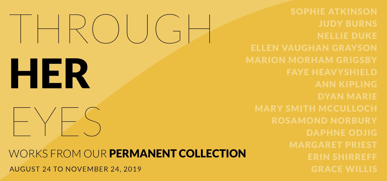 Group Exhibition   Margaret Priest  as part of:   Through Her Eyes   at  Kelowna Art Gallery , The exhibition focuses on women artists in the Kelowna Art Gallery's collection and includes works ranging from the 1930s to the present.   View More