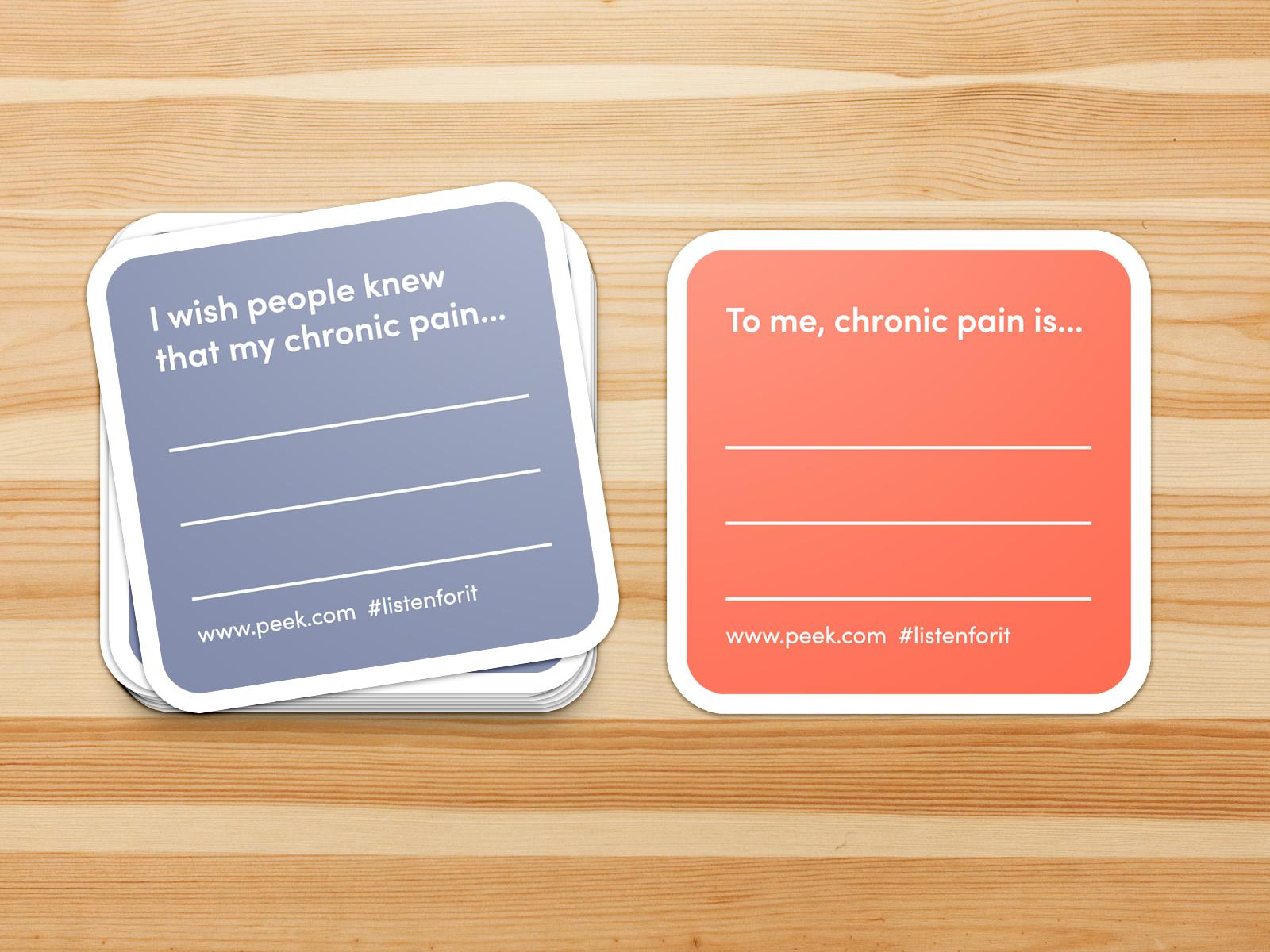 Chronic Pain Awareness Stickers