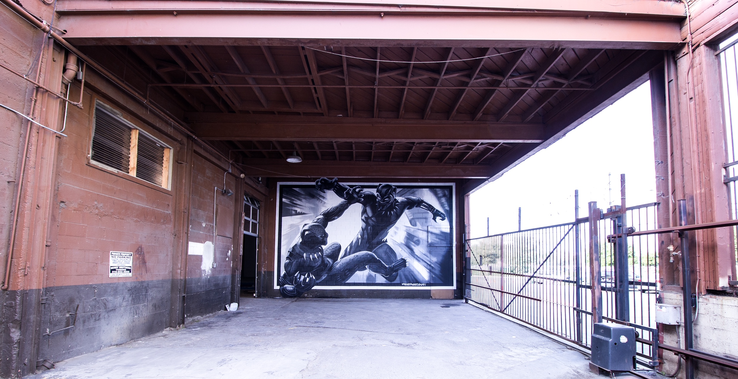 Black Panther Mural for 11 West Properties