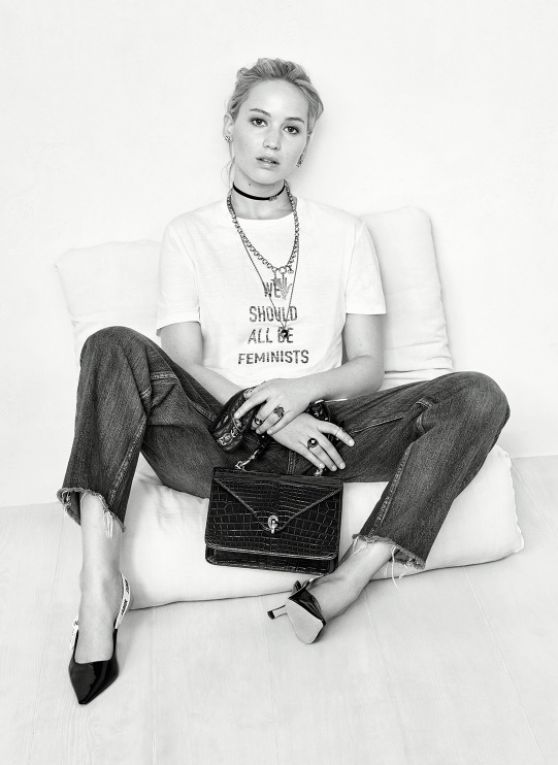 Dior AW17 Campaign featuring their infamous slogan t-shirt