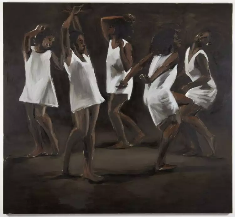 Lynette Yiadom-Boakye  The Hours Behind You, 2011. Oil on Canvas.