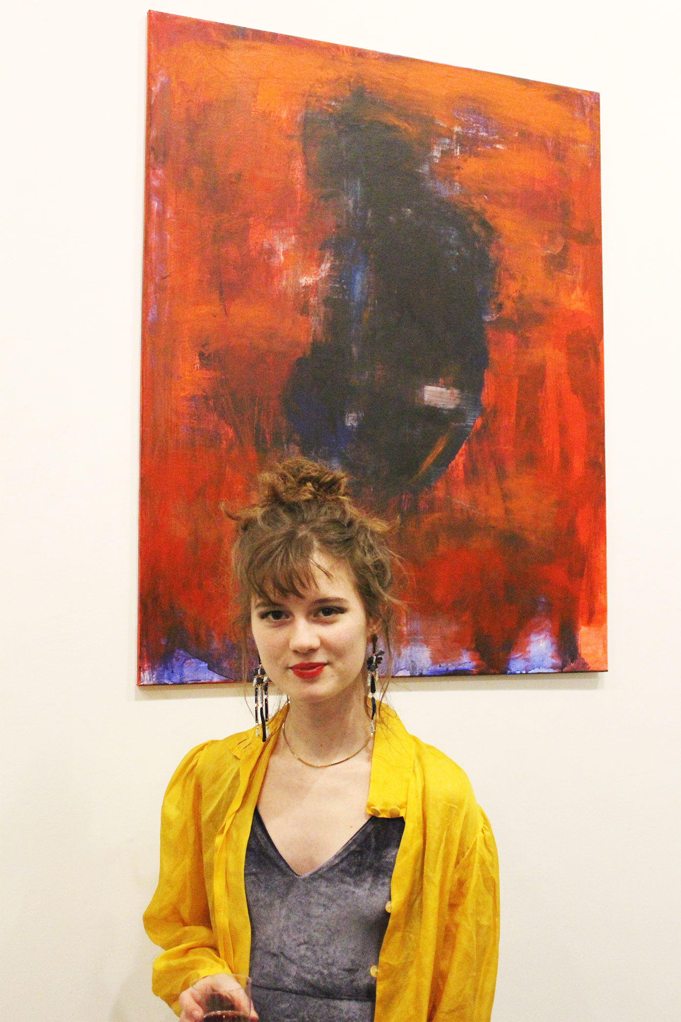 Fleur Adderley - Not only did Fleur organise and curate this exhibition but also showcased her own work comprising of abstract paintings of female form.Visit Fleur's art Instagram here.