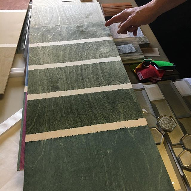 Today Heather and Peter are in the office experimenting with different wood stains and dyes!  It's all about experimenting with different colors and textures to creat something special.  ______________________________ #texasarchitecture #texasarchitect #designinspo #interiordesign #designmatters #process