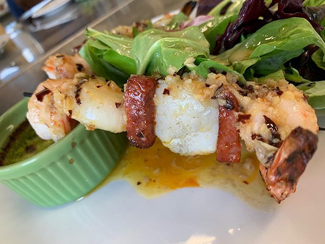 Its a scallop skewer kind of day #provo #tci #providenciales #scallops #chorizo #shrimp #shrimpandscallops #turksandcaicosislands #turksandcaicos #tasty