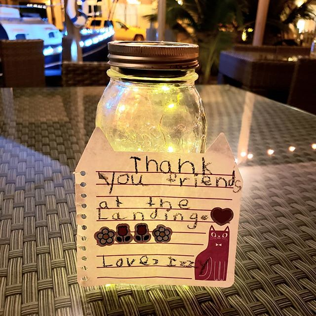 From One of Our Littl' Guests 🥰💕🥰 #thankyou #thankyounote #goodfoodmood #cocktailhour #mocktails #greatatmosphere #relaxingevening #chilling😎 #spreadthelove #seeyounextyear  #providencialesturksandcaicos #provo #gracebay #tci