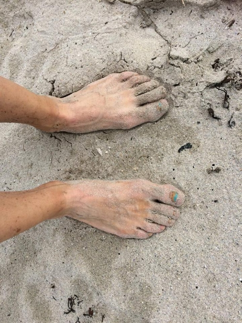 Magical to feel the sand and sea beneath my feet