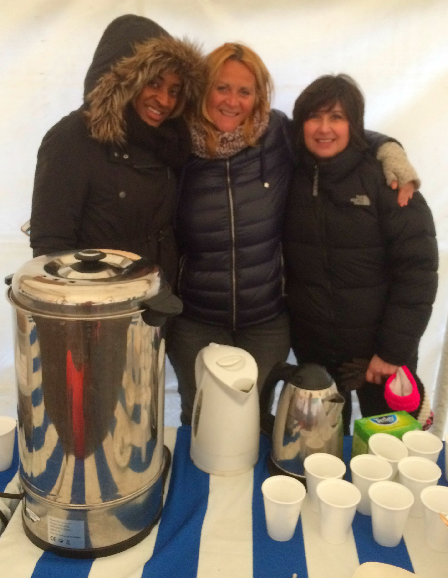 The Boardside Cafe ladies - the real heroes of the day