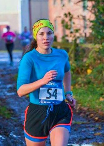 Chiara with her game face on at a previous Foxtrail race
