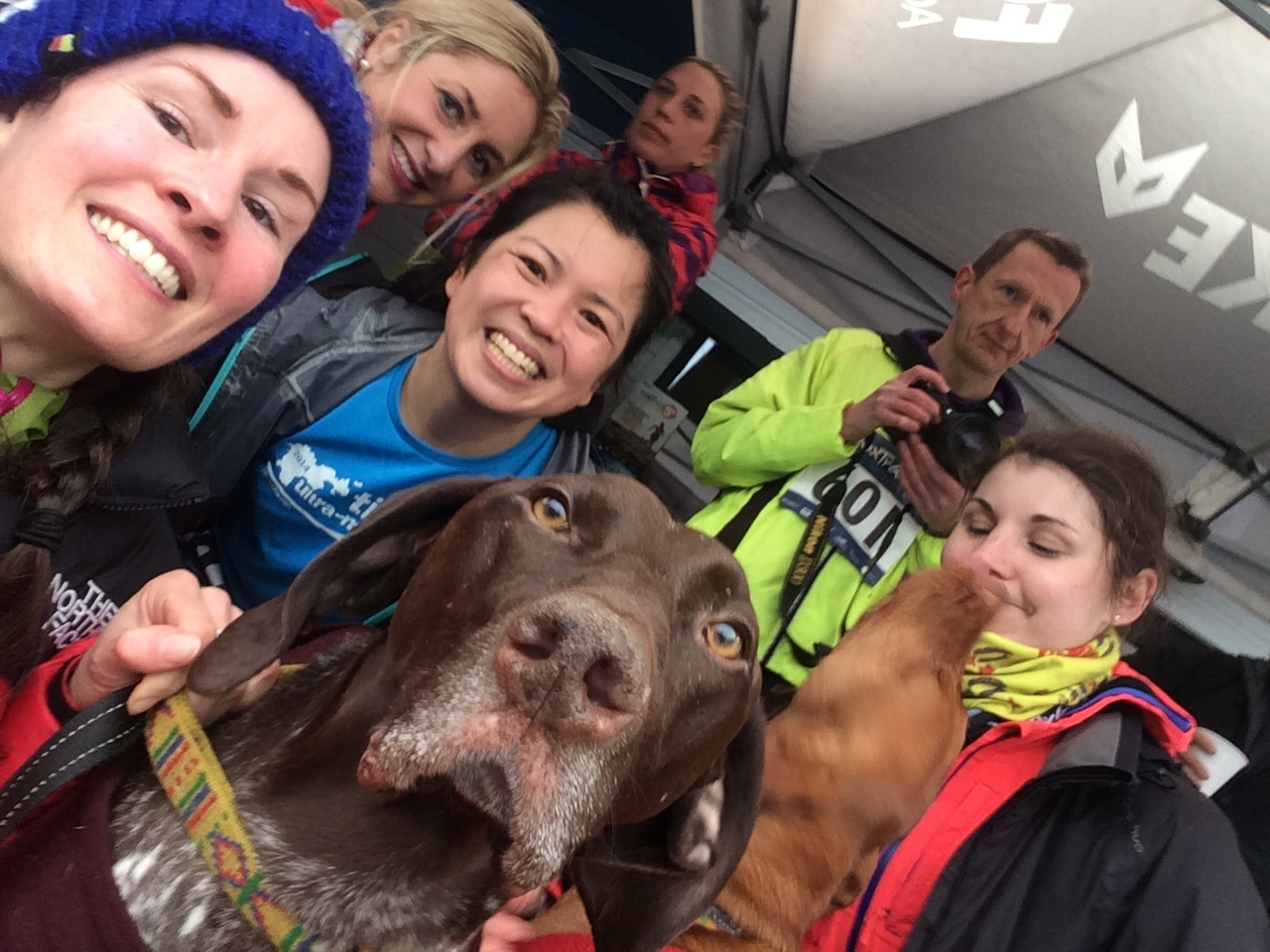 The compulsory selfie with some amazing and inspirational souls (dogs included in that statement)