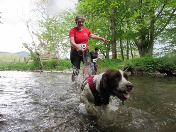 Gail and Ellie (image taken from a Cani-Fit race)