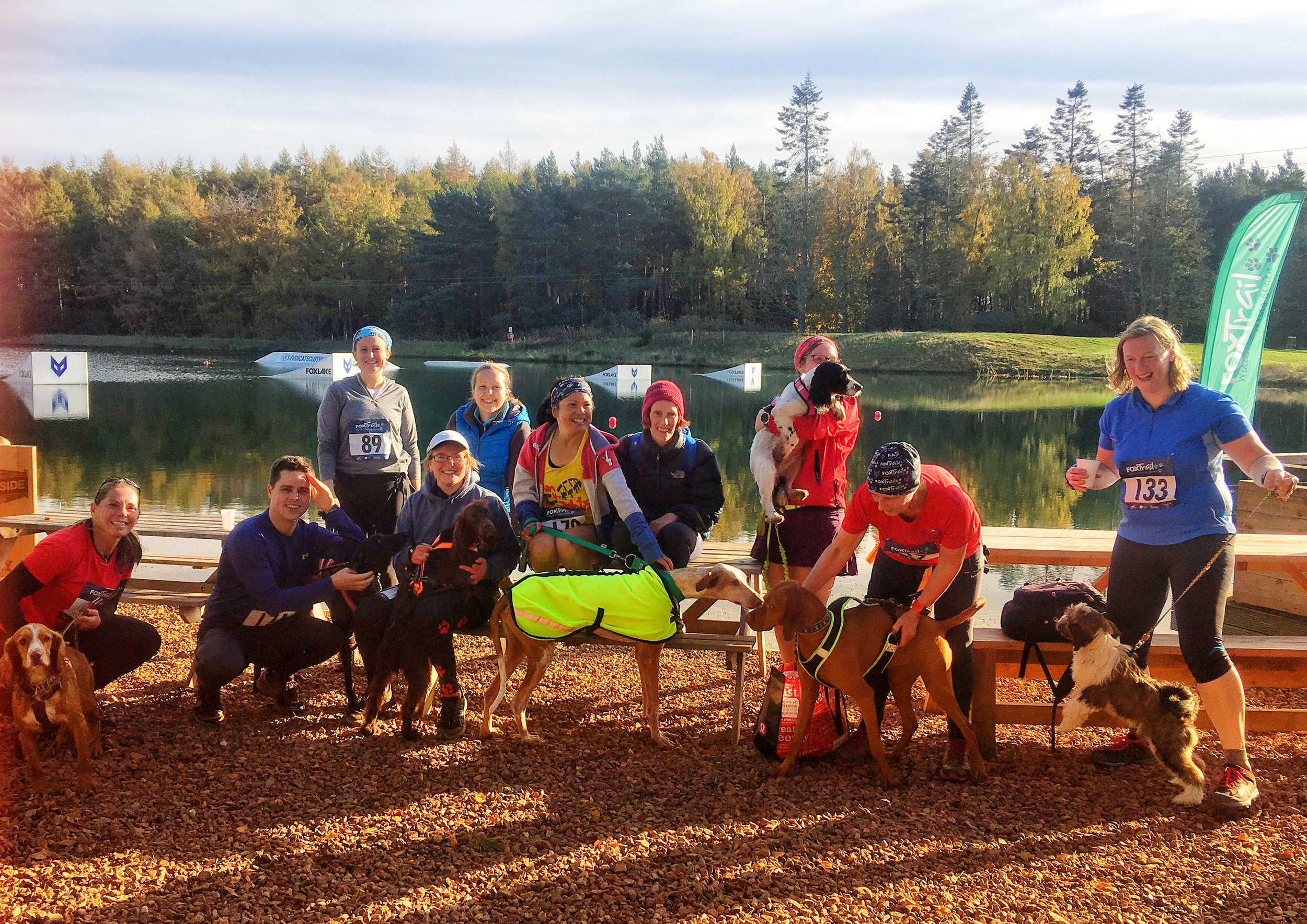 Some of the canicrossers from Cani-Sports Edinburgh - do you have a dog and want to run?  Look them up and join them!