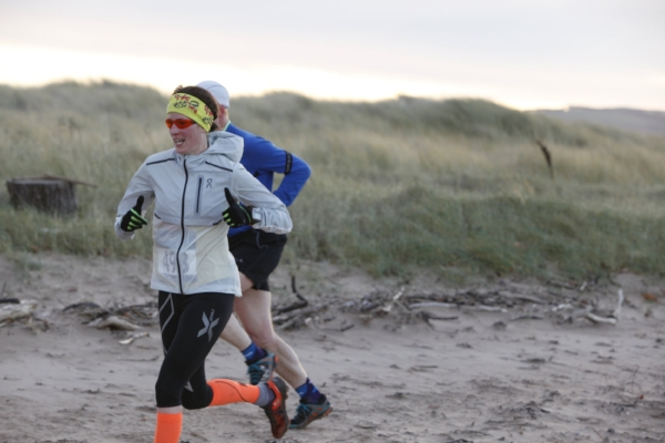Me starting the beach section during the 16k race - image by Jacob Walker of Last Light Film