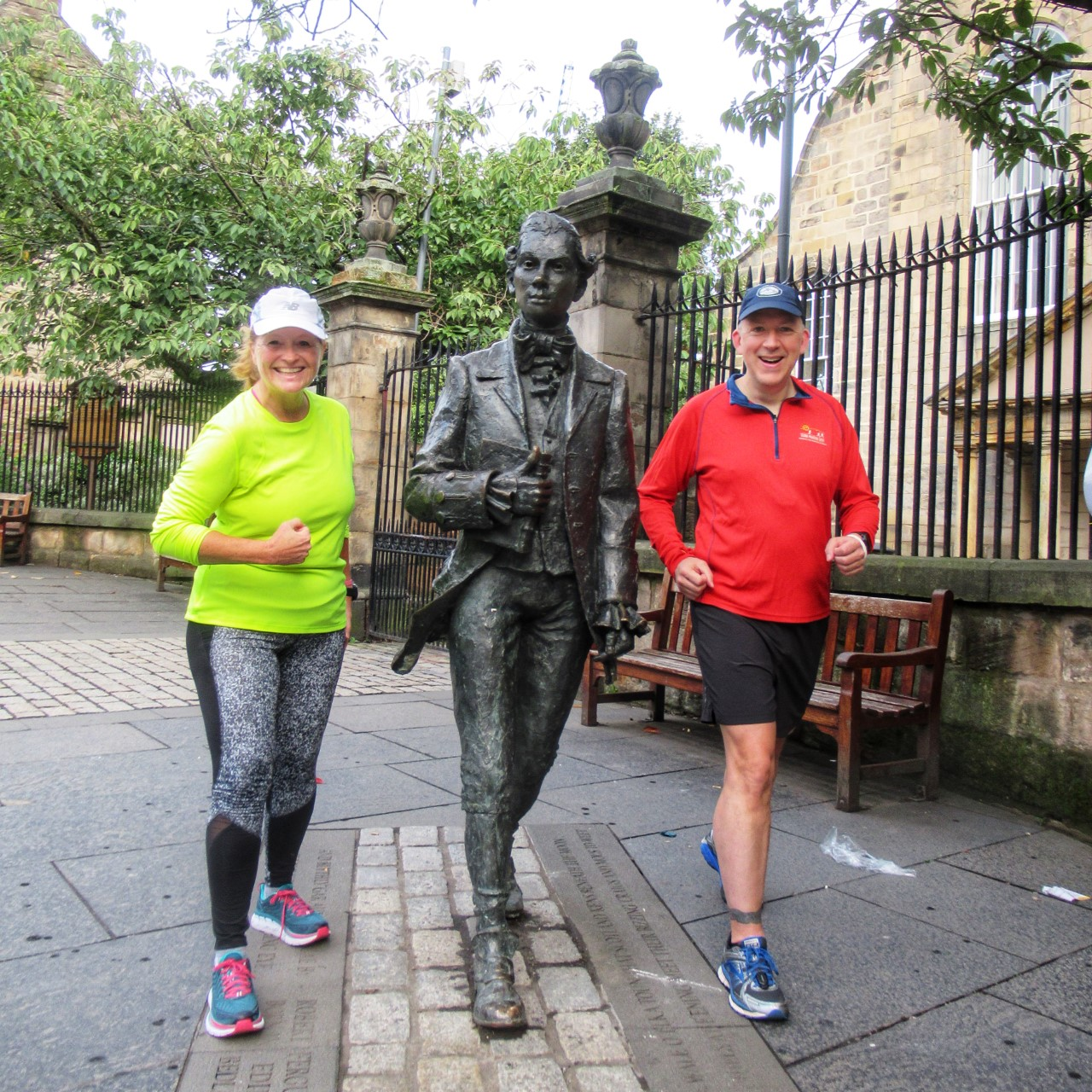 Meeting the locals on a Run the Sights running tour