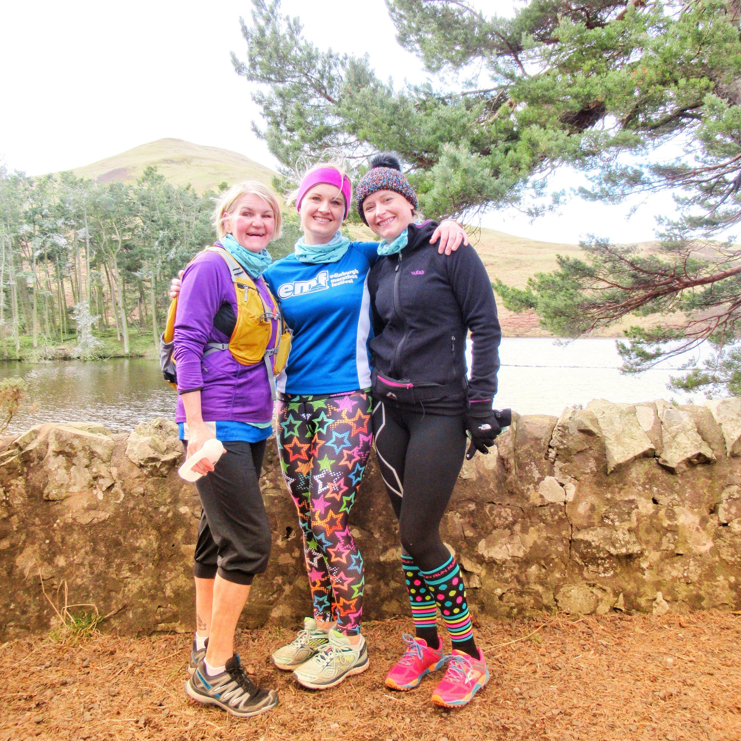 Tracy, Gemma & Angela on the Pentland Taster Running Tour