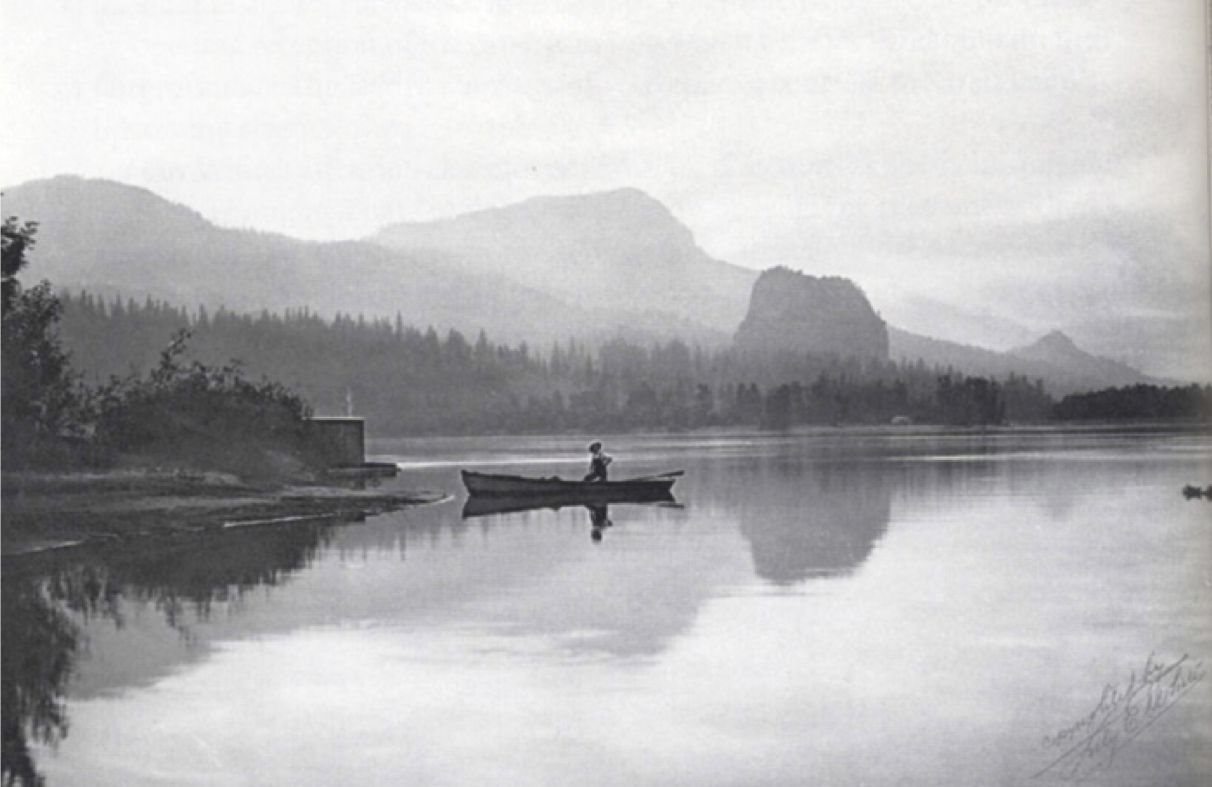 Evening on the Columbia, Lily White, ca. 1903