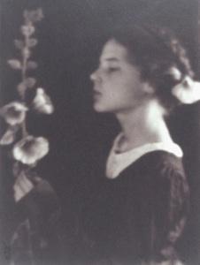 Hollyhocks, Myra Albert Wiggins, 1910