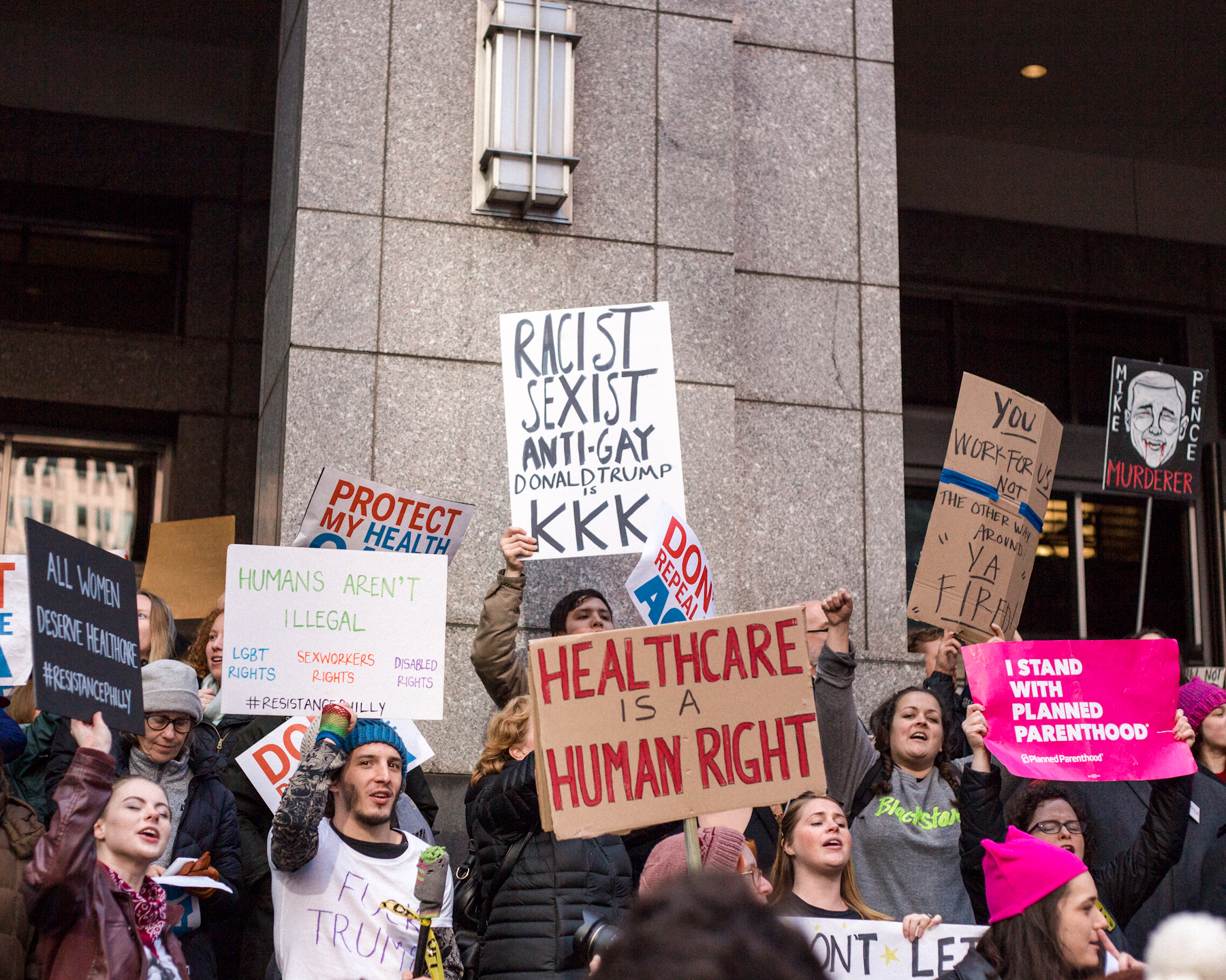 Philly protests the Republican Retreat, 1/26/17