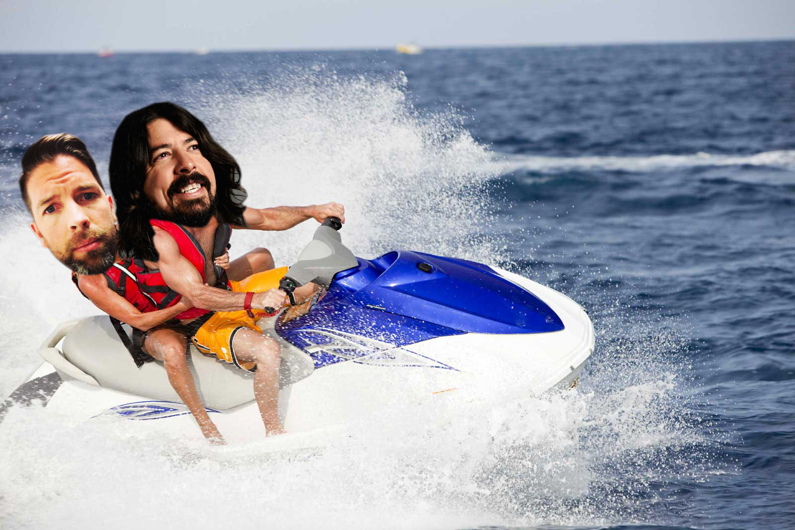 This photoshopped picture of Dave Grohl and myself jet skiing is the closest I'll ever get to heaven.