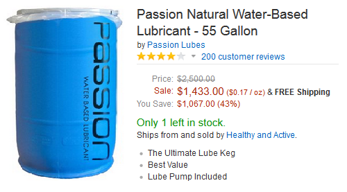 There is no way I'm investing $1,500 on a barrel of lube without a lube pump... oh wait. Ok, nevermind.
