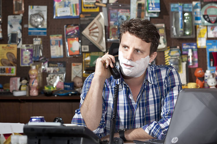 The well-groomed founder of Dollar Shave Club, Michael Dubin, poses for a portrait in company offices in 2012.Photo:Dan Krauss/WSJ