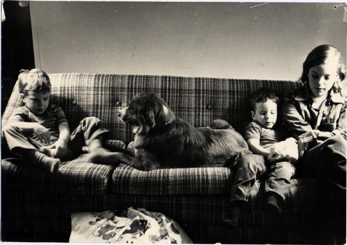 Davis-Me, Matthew, David-on couch with Chelsea & guinea pigs-1974_adj01-sm.jpg
