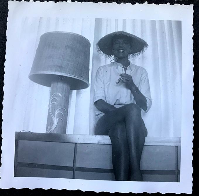 Mom-straw hat & lamp-1950s_adj01-sm.jpg