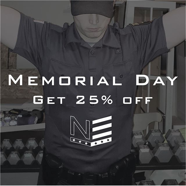 Remembering and honoring those who have given the ultimate sacrifice for our county 🇺🇸 Have a safe weekend everyone, and take 25% off your next order 💪 Promo Code: MDW25 #mdw2019 #police #lawenforcement #securityguard #protectandserve #policefitness #fitcop #fitforduty #fitforlife #sheriff #armedforces #military #honor #remember #salute #nesseapparel