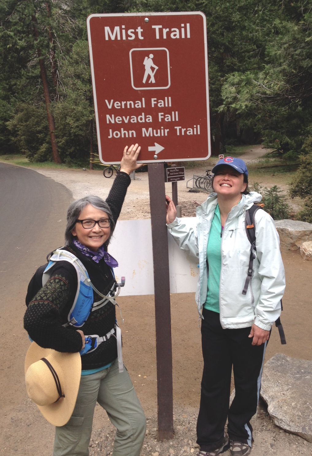 Total: 6.7 miles and 2162 feet elevation gain from the bottom of Mist Trail to the top of Nevada Fall. Yosemite, California. 2016. www.chibeingchi.com