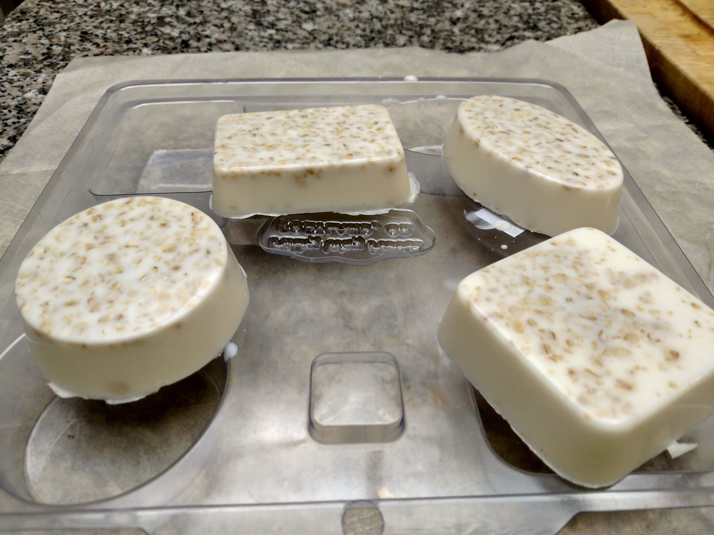 Soaps from molds