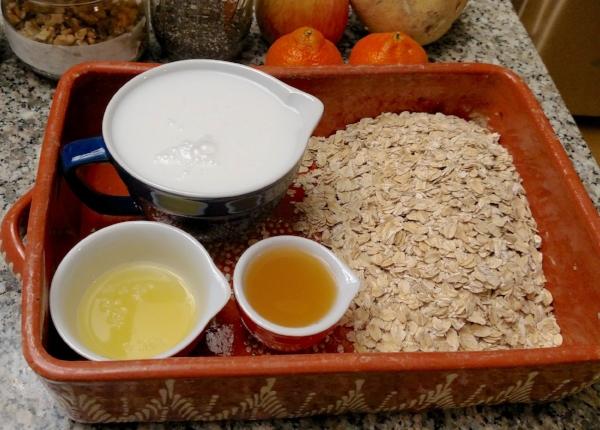 Prepared Ingredients for Muesli