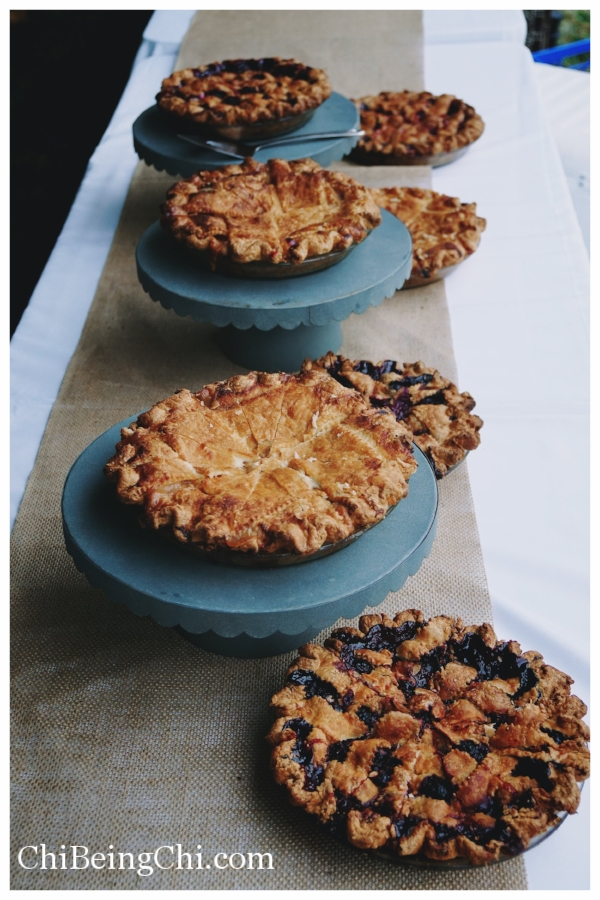 Locally Made Berries and Peach Pies