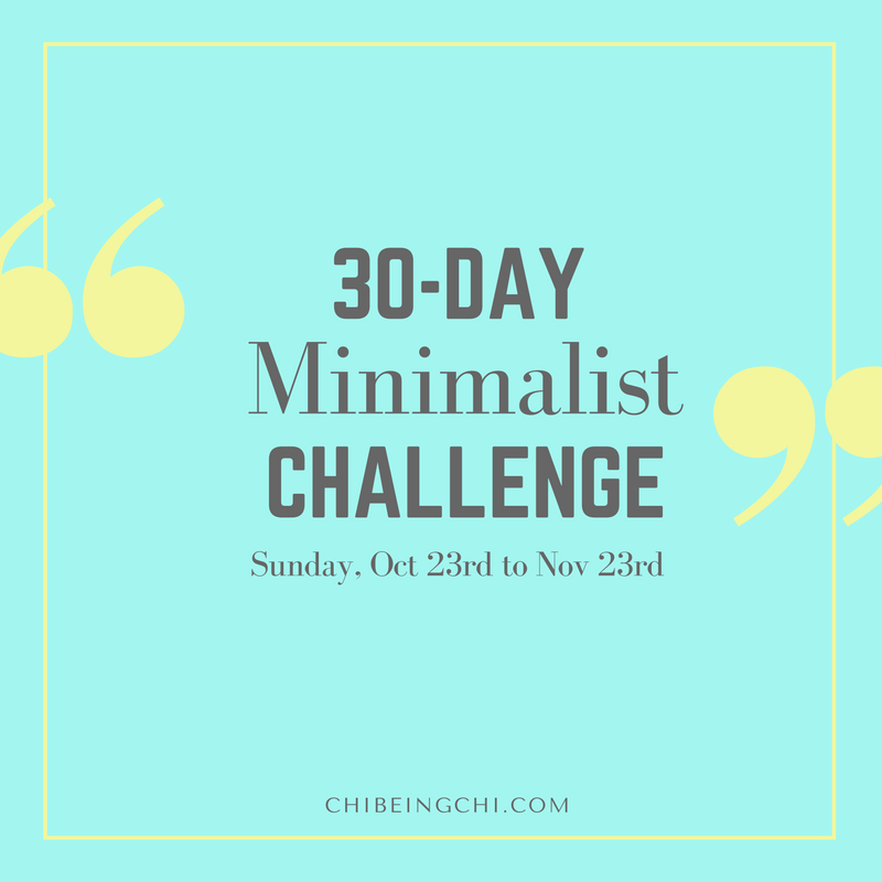 Sign up for 30-Day Minimalist Challenge