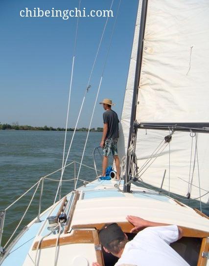 Sailing on the Sacramento Delta.