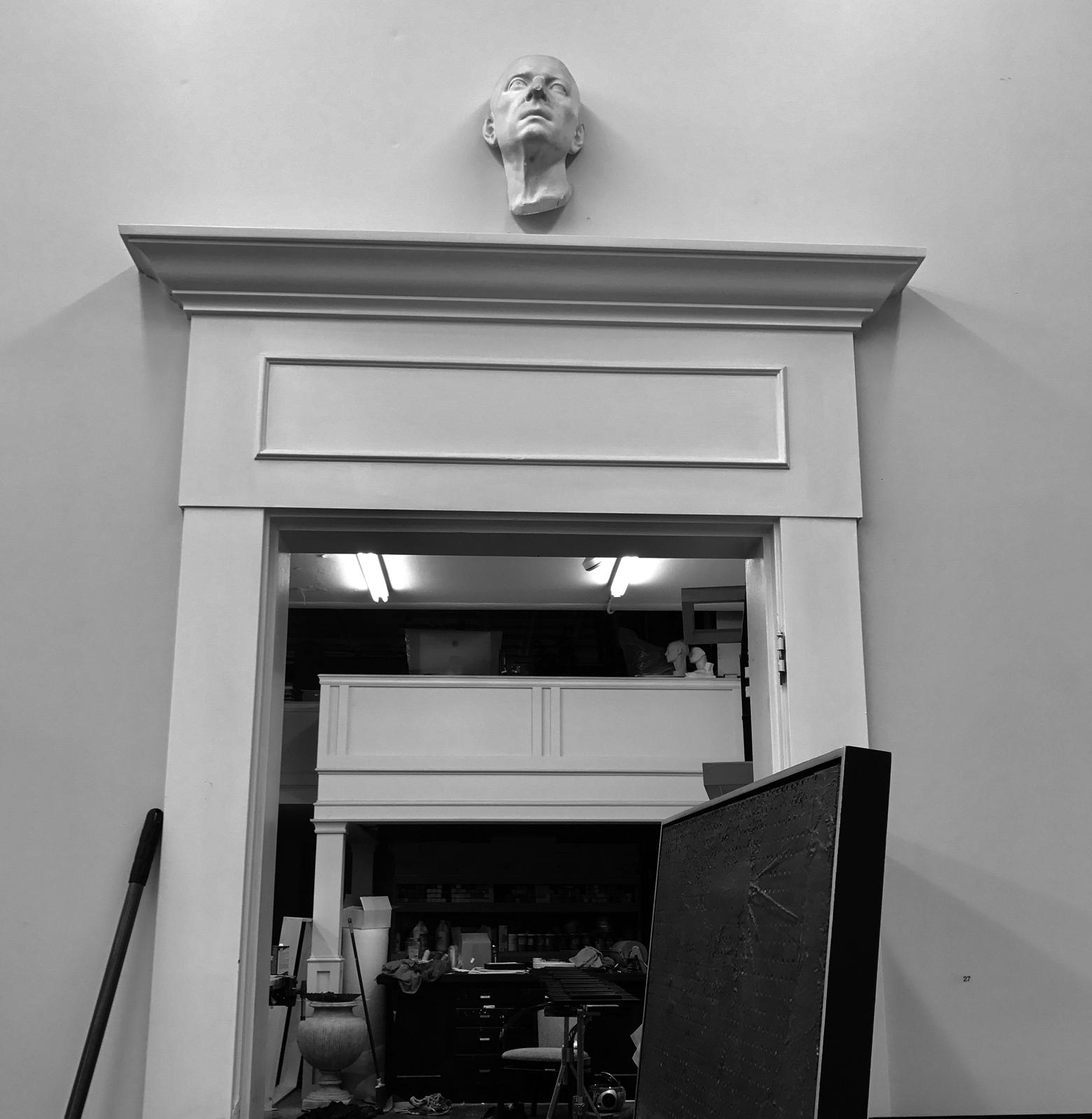 entrance to back studio.