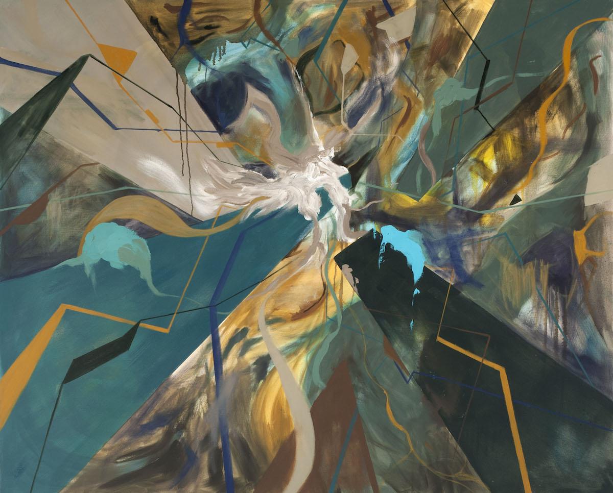 "Surges, oil on canvas, 48"" x 60"""