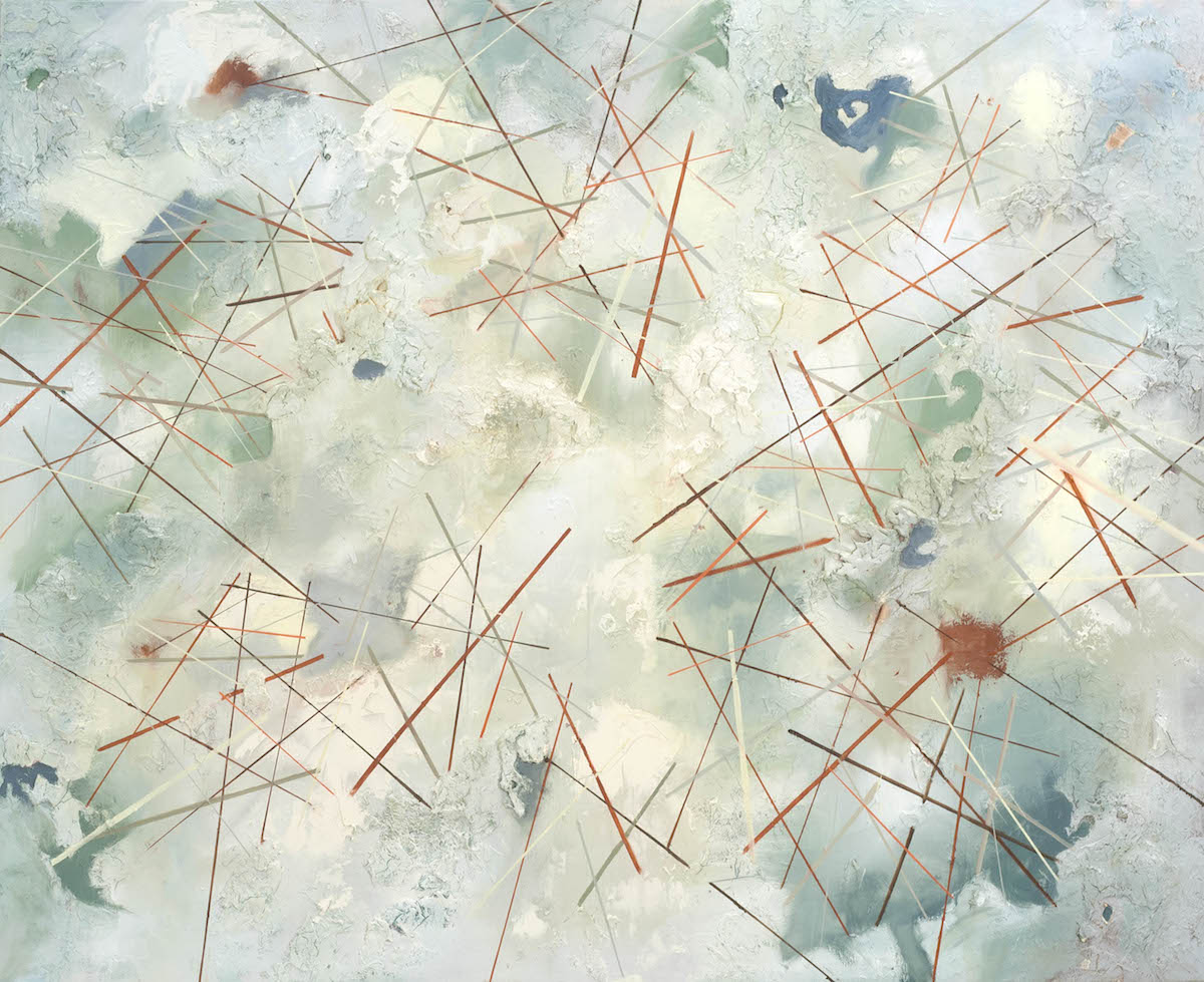 """Physically Ethereal, oil and mixed media on canvas, 60"""" x 72"""""""