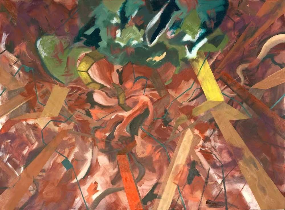 """Skin Deep, oil on canvas, 36"""" x 48"""""""
