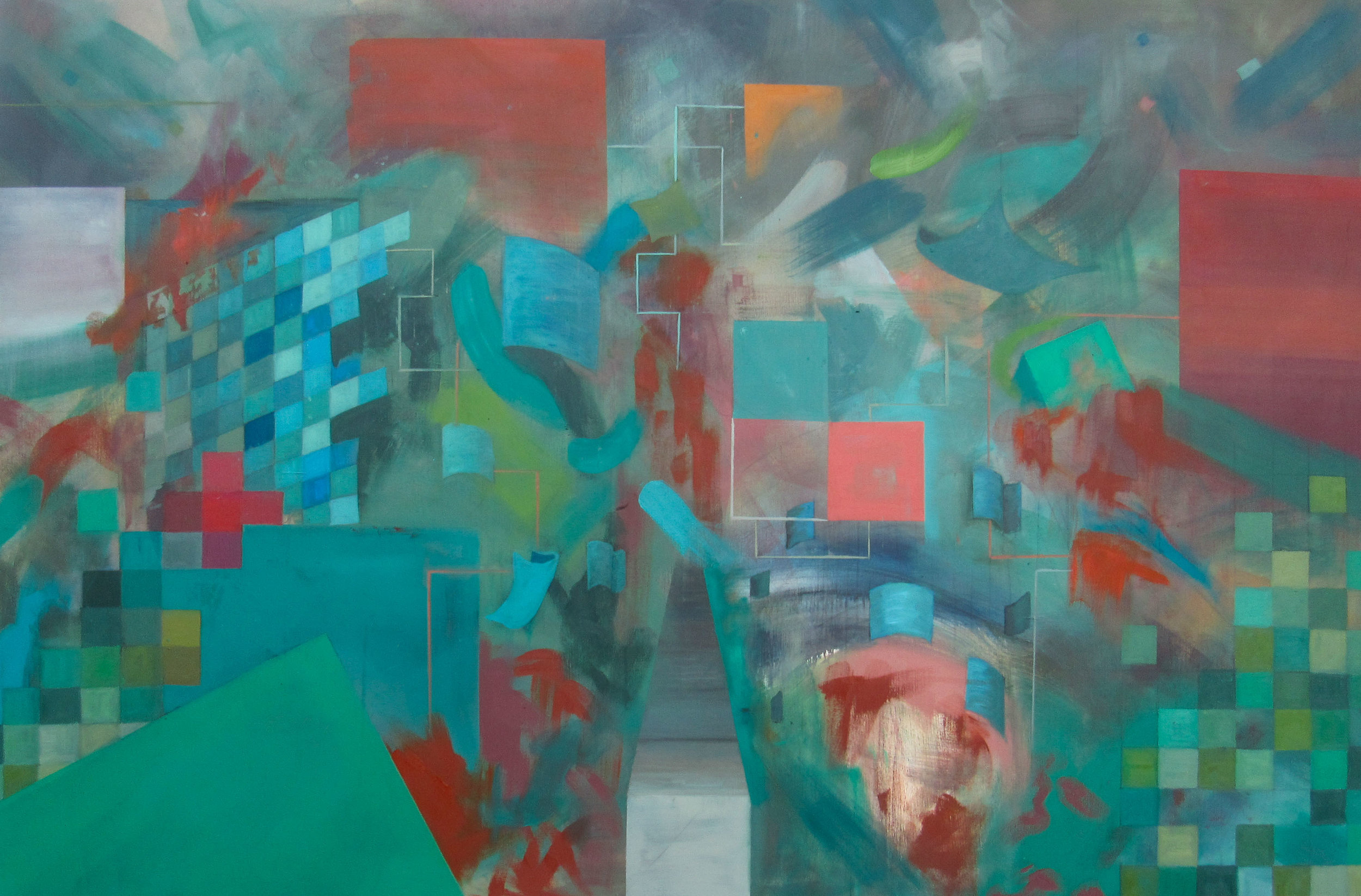 """Imagining of the Penacho, oil on canvas, 48"""" x 72"""""""