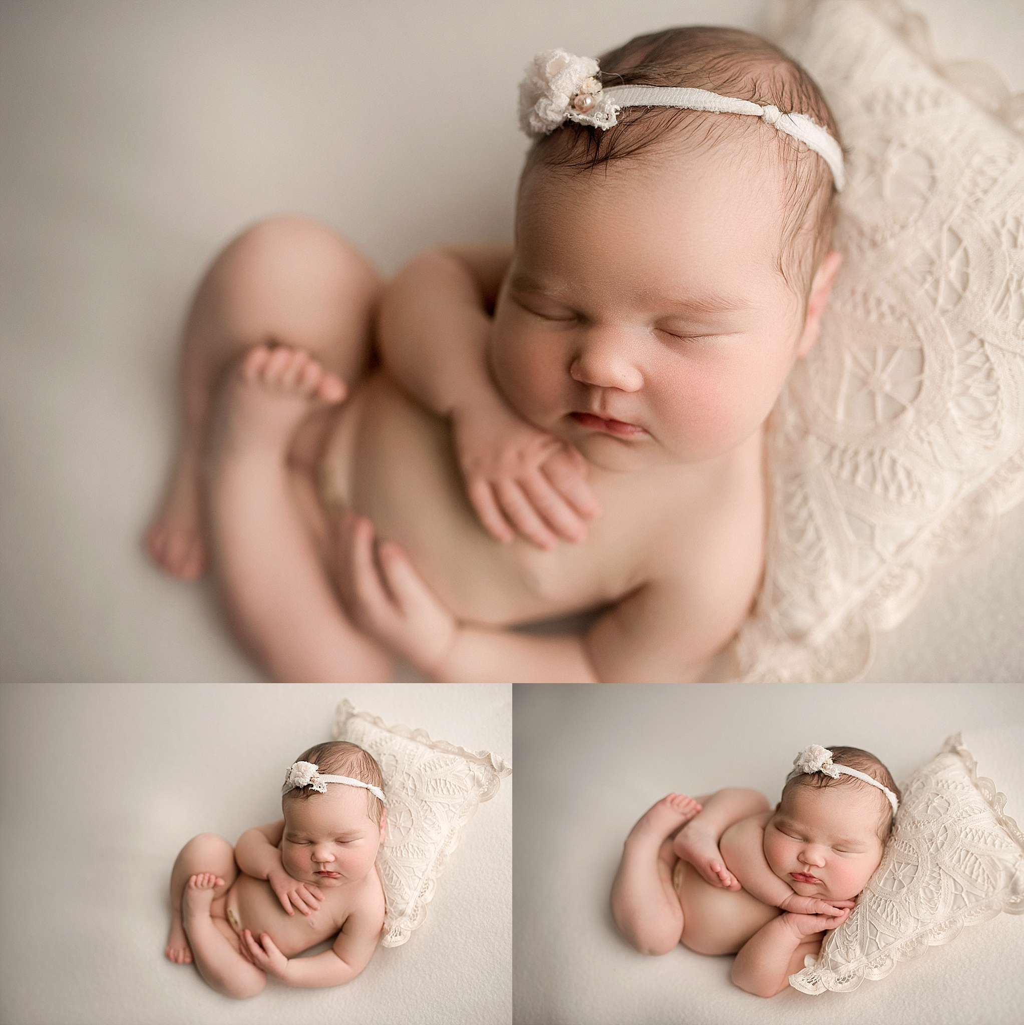 Newborn girl posing ideas