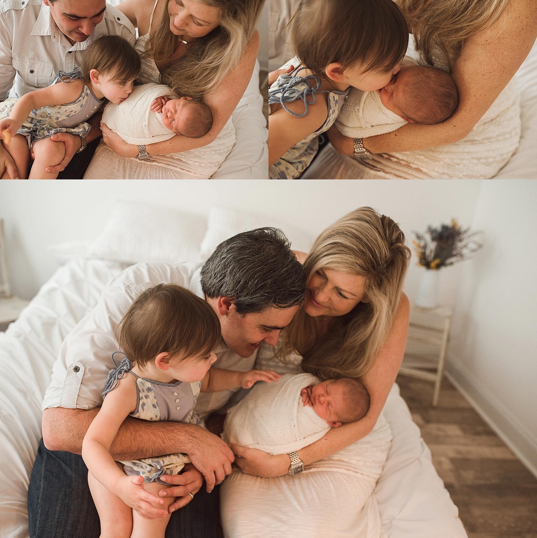 Family posing ideas newborn session