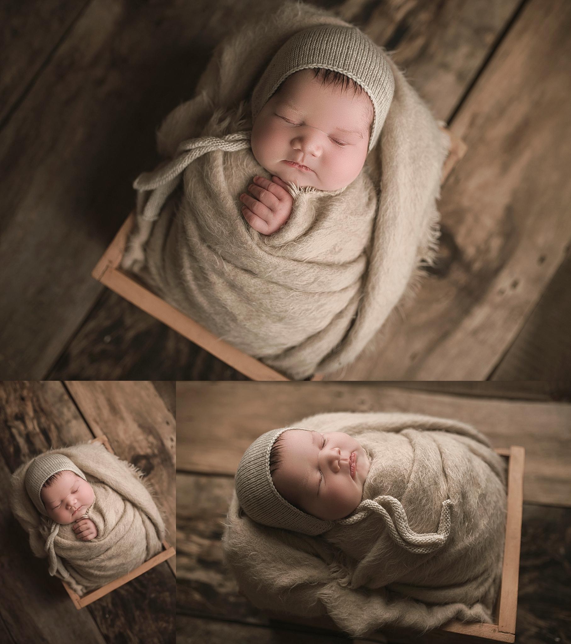 Fussy baby newborn photography posing
