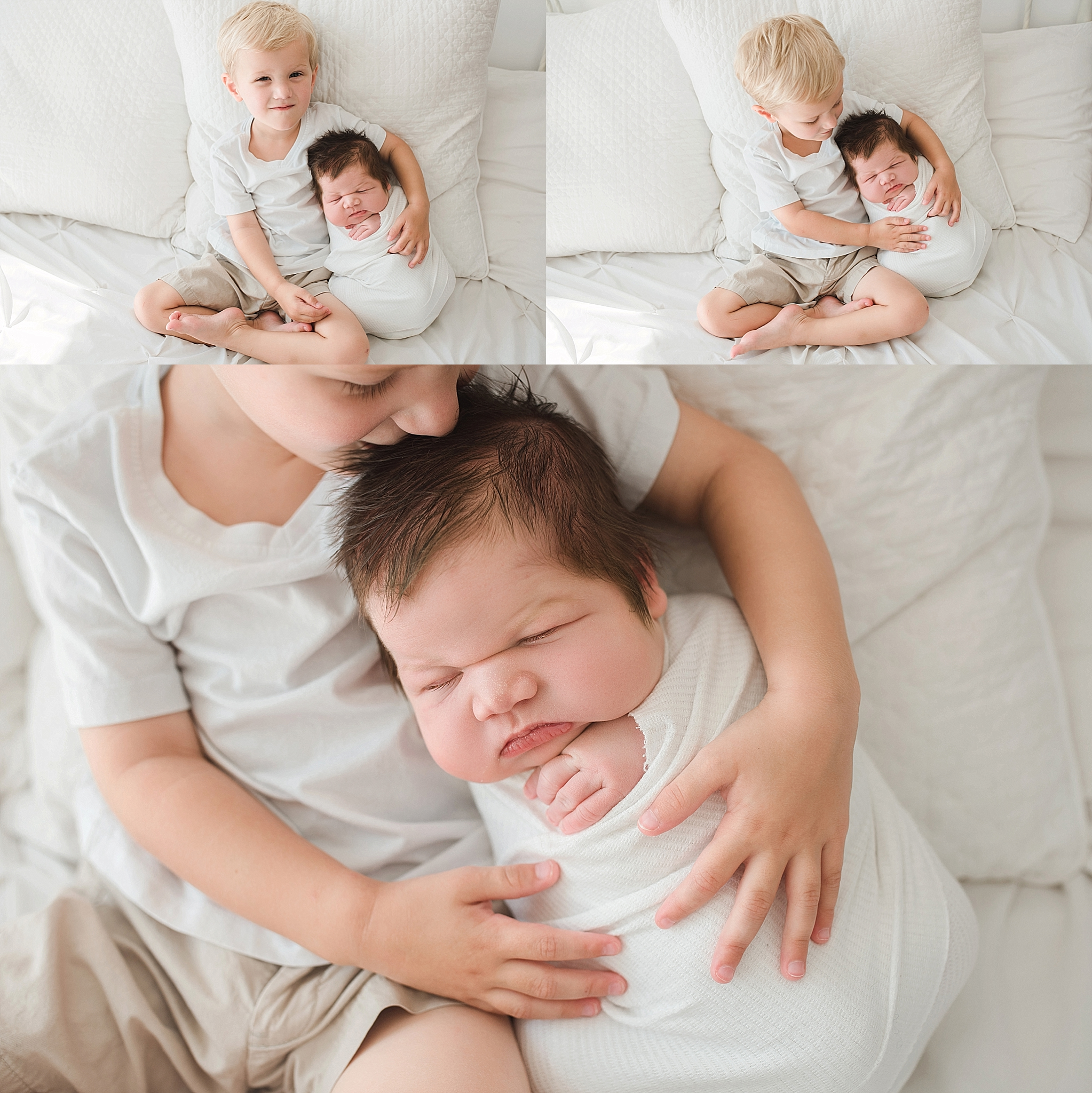 Newborn photos sibling ideas