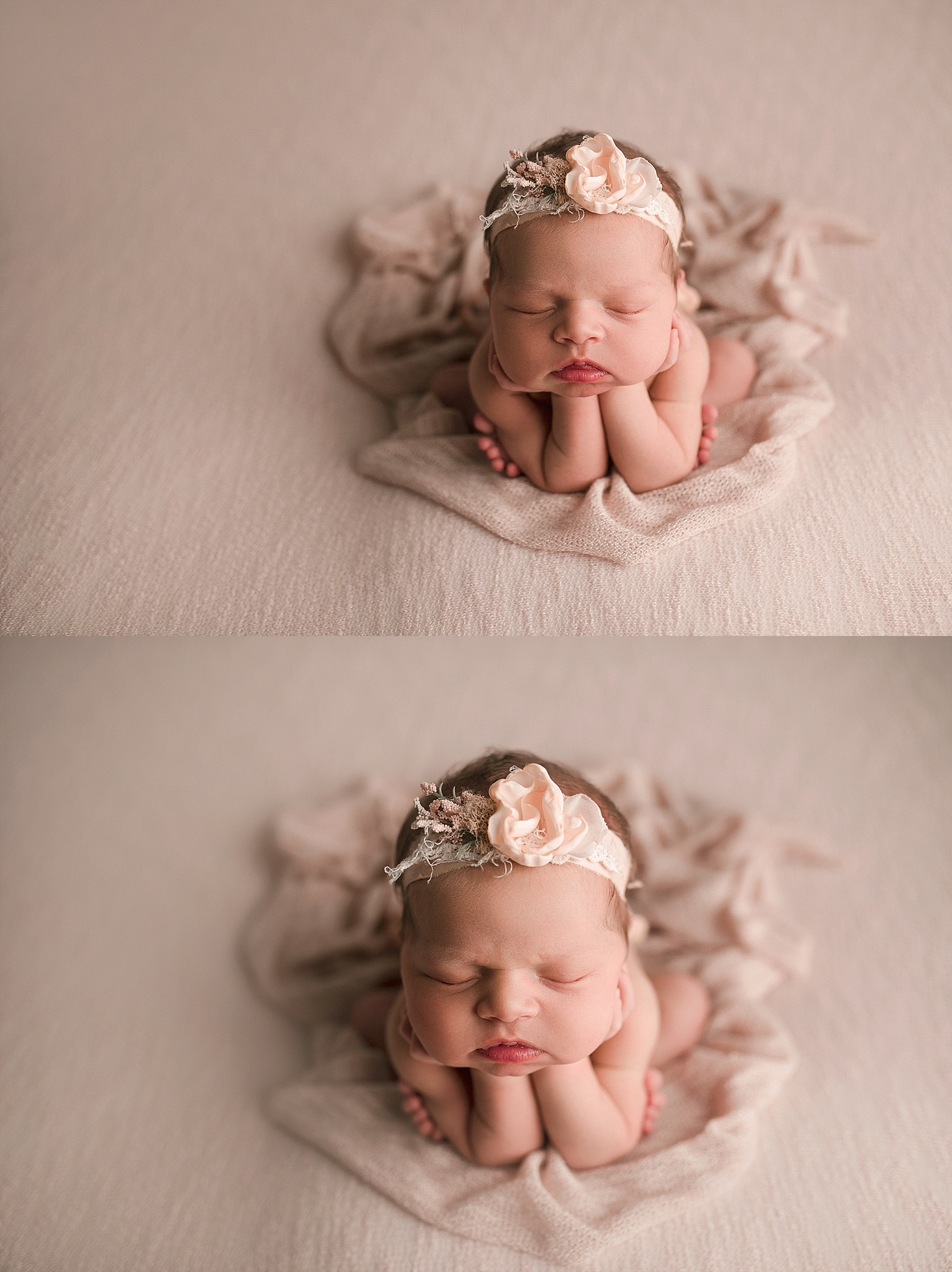 Froggy pose done safely-newborn posing