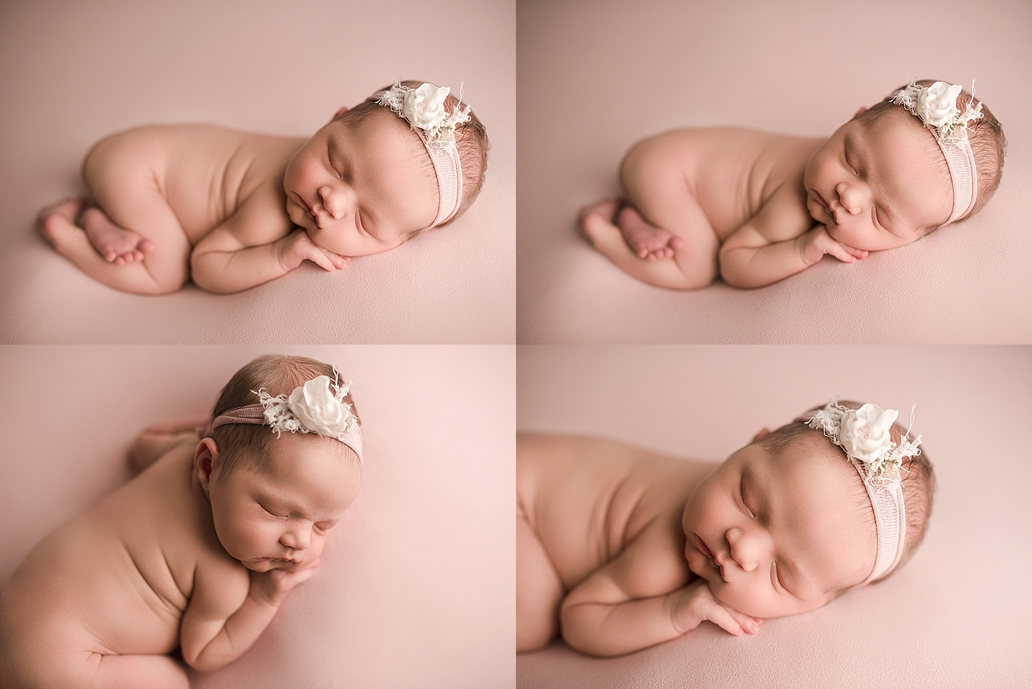 Newborn girl posing workshop