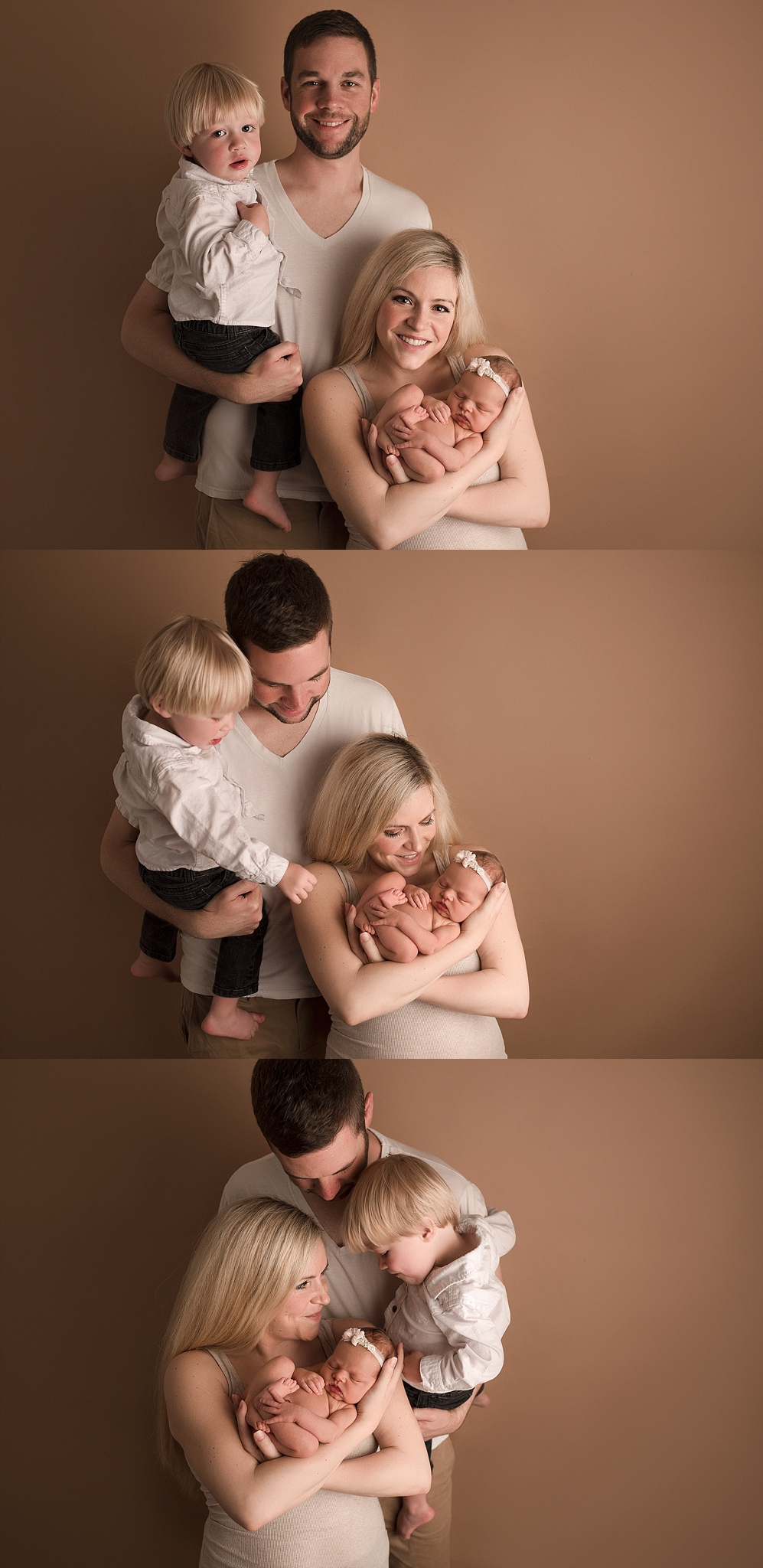 Newborn family posing ideas