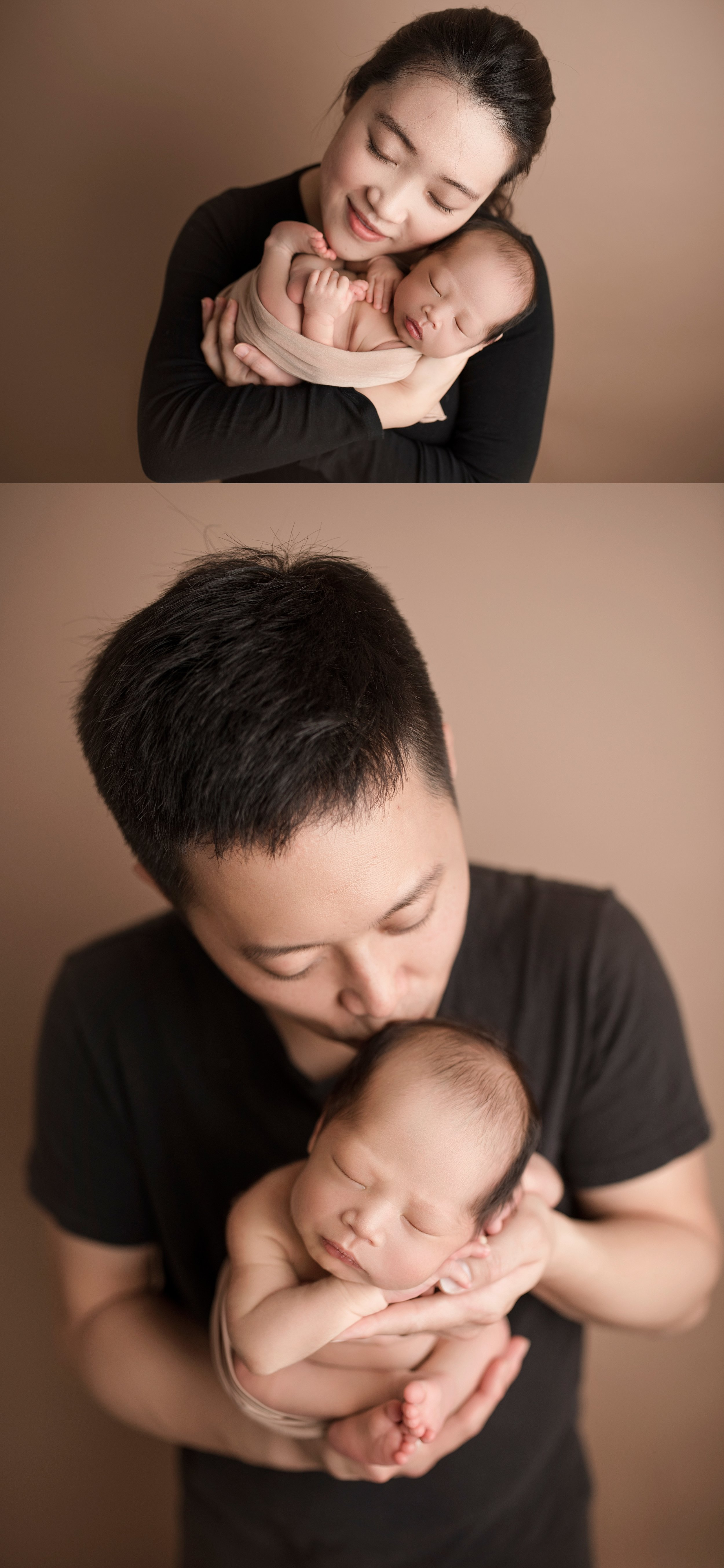 Parent and baby posing ideas alone