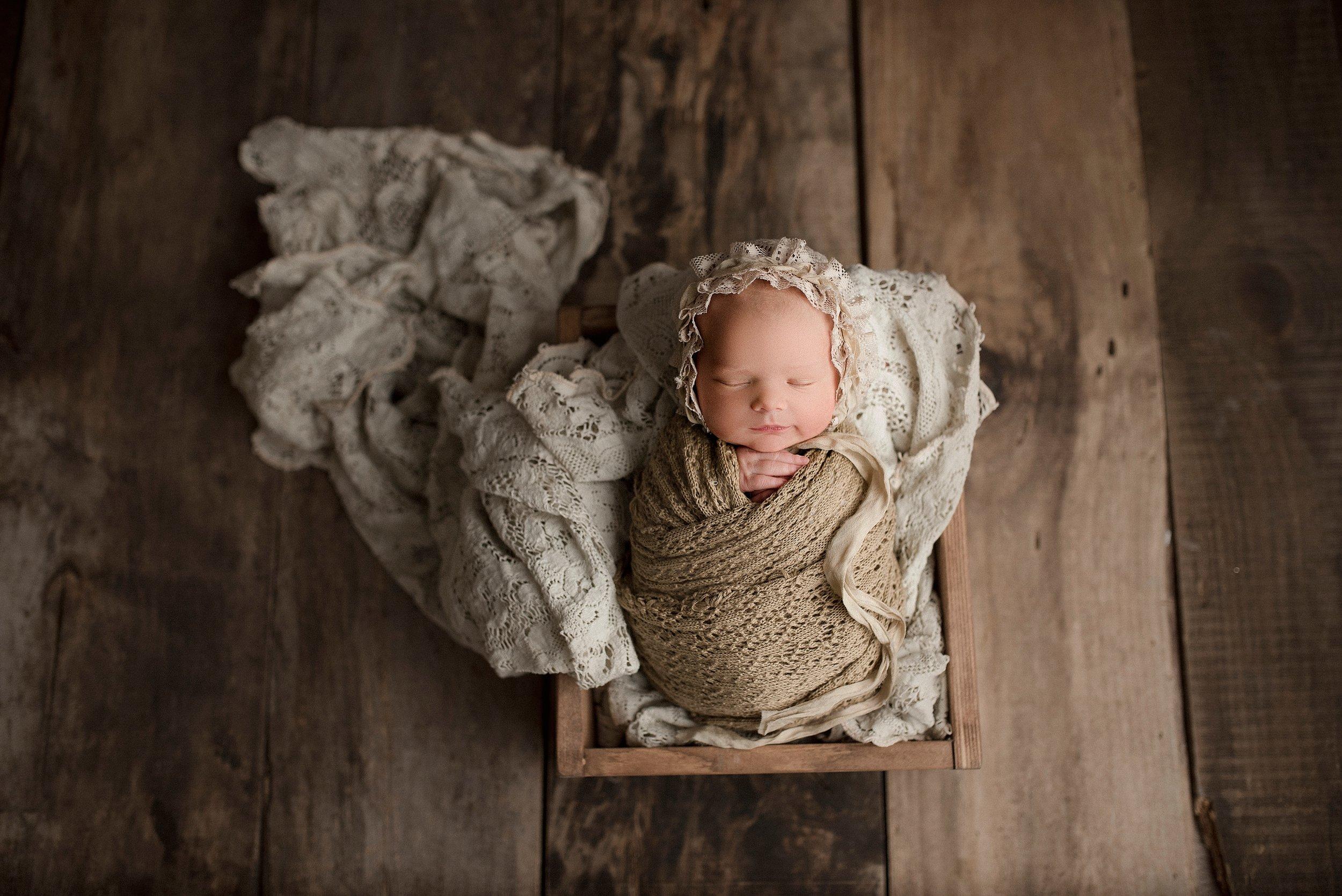 Vintage newborn photo ideas