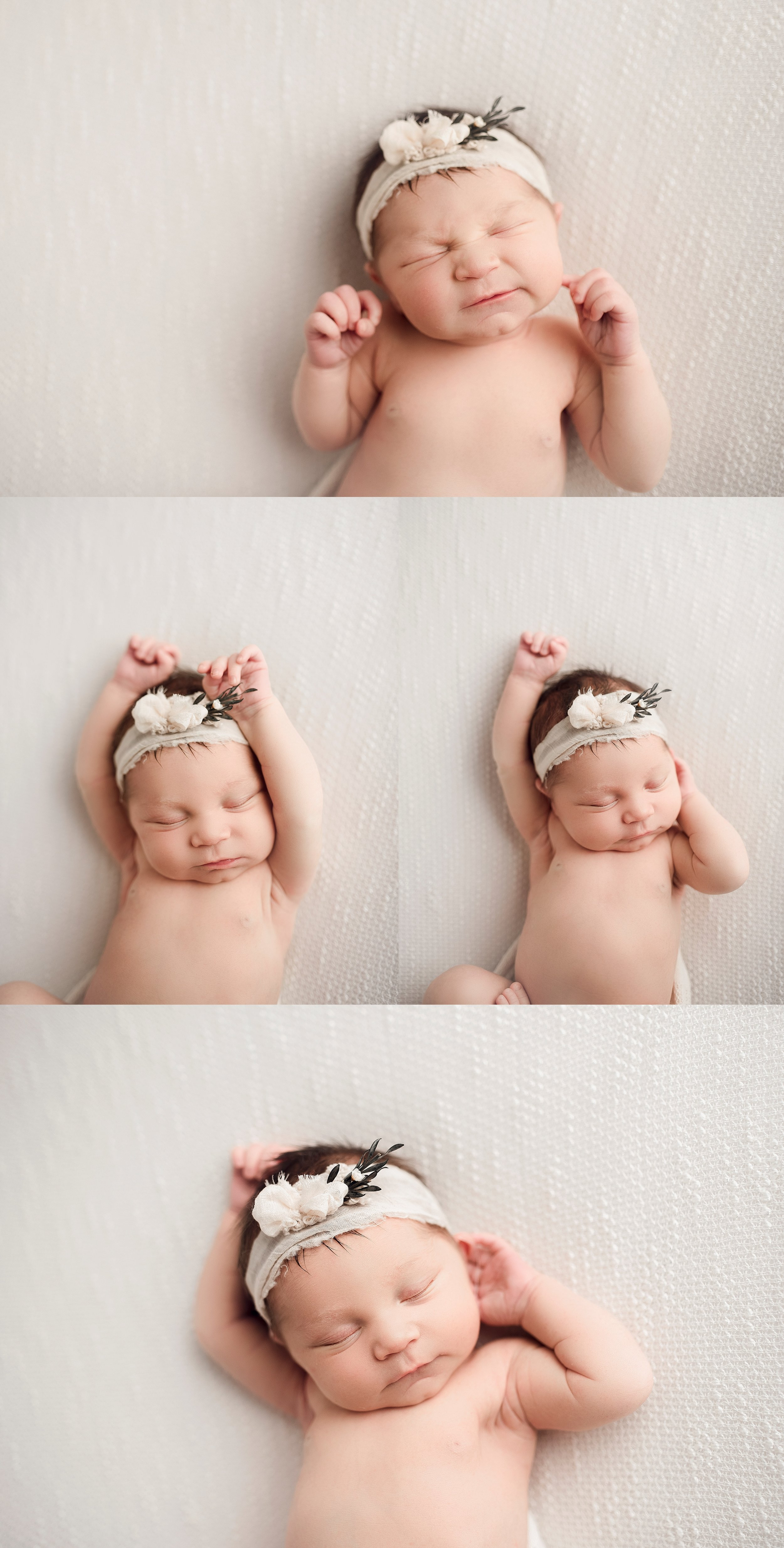 natural newborn session simple