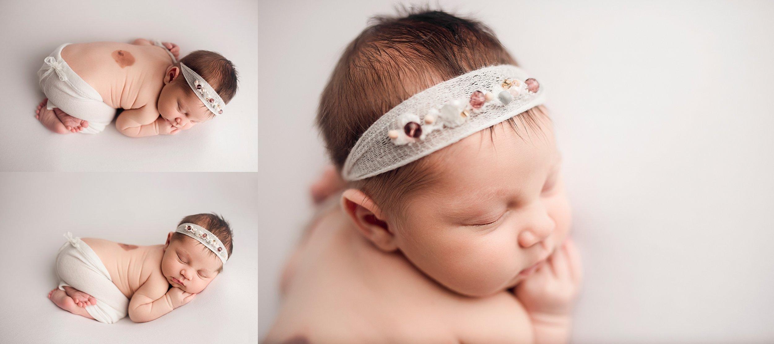 white newborn session