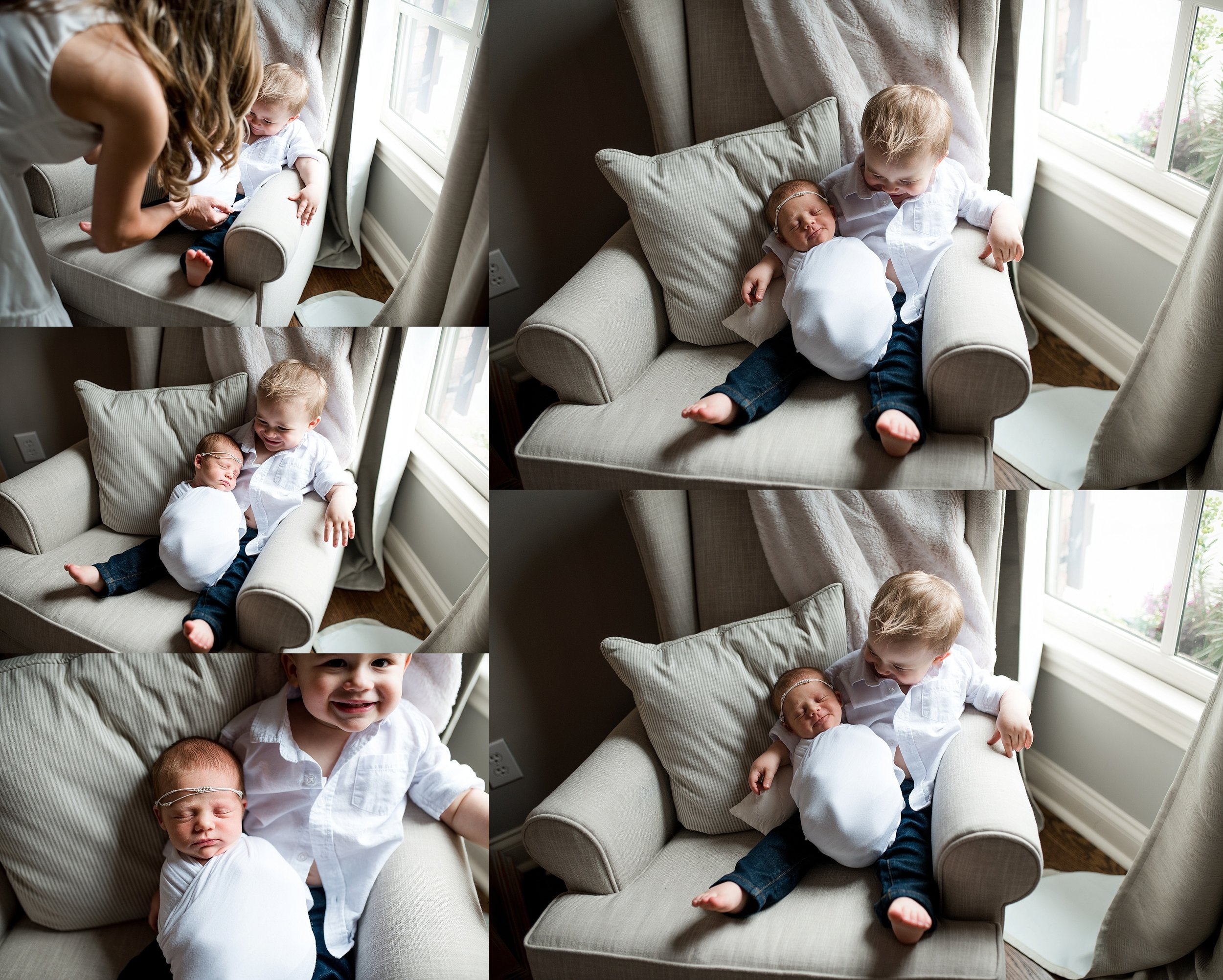 Sibling newborn baby. lifestyle photos